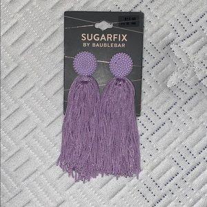 Lavender sugar fix by baublebar tassel earrings